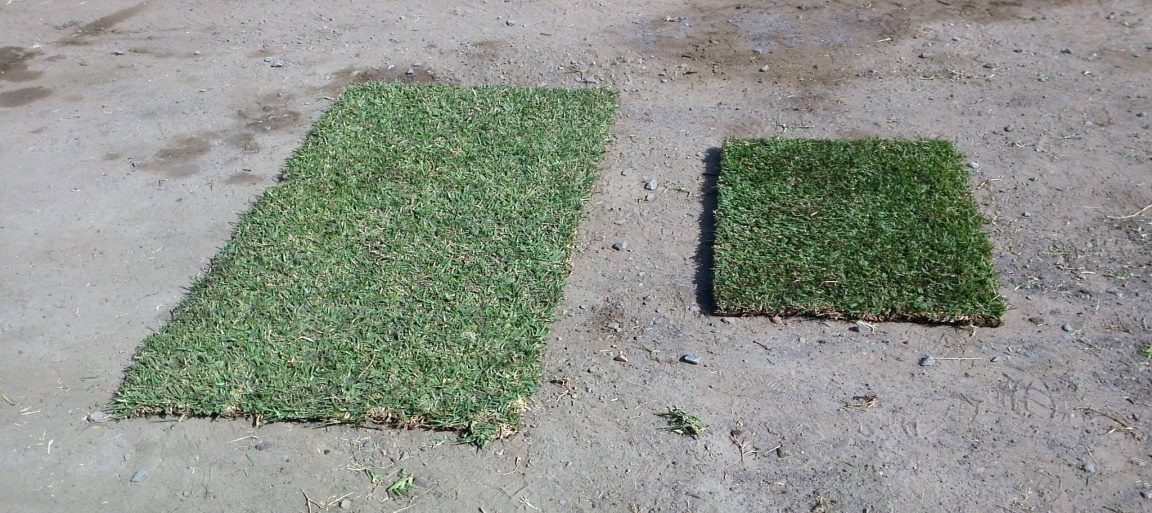 Lawn Block smaller piece compared with standard size