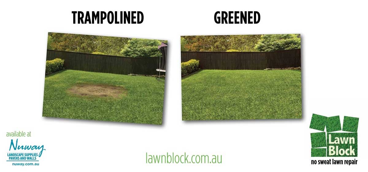 Lawn Block Lawn Repair - Trampolined Greened Billboard